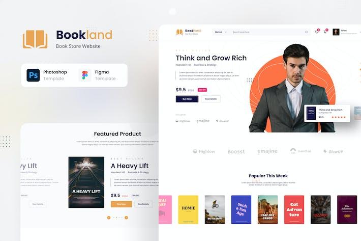 Bookland - Buchhandlung E-Commerce-Website