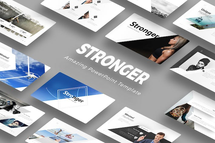 Cover Image For Stronger PowerPoint Template