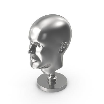 Silberner Kopf Statue