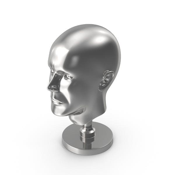 Silver Head Statue