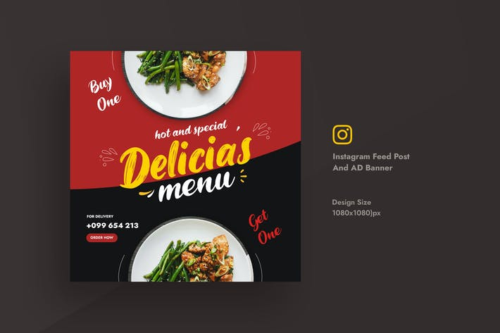 Restaurant & Food Promotional Instagram Feed Post