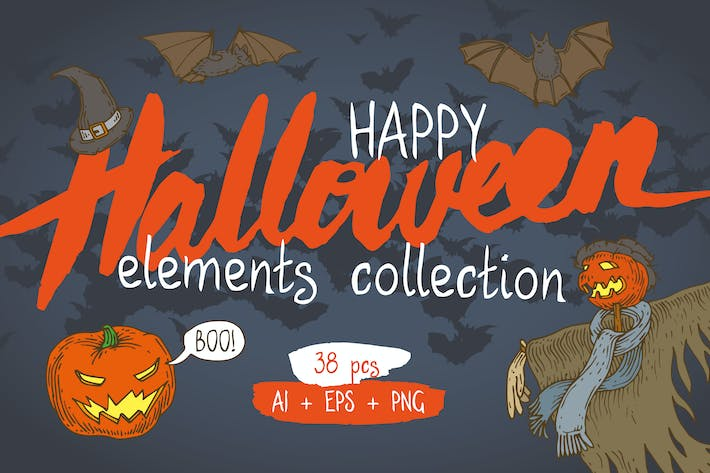 Thumbnail for Happy Halloween Elements Collection