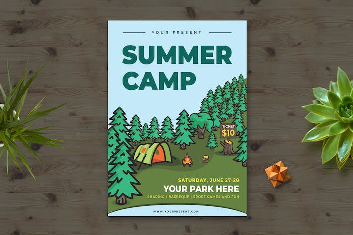 Thumbnail for Summer Camp Flyer vol.3