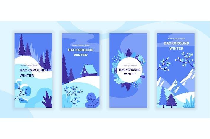 Thumbnail for Winter Instagram Stories Social Media Template