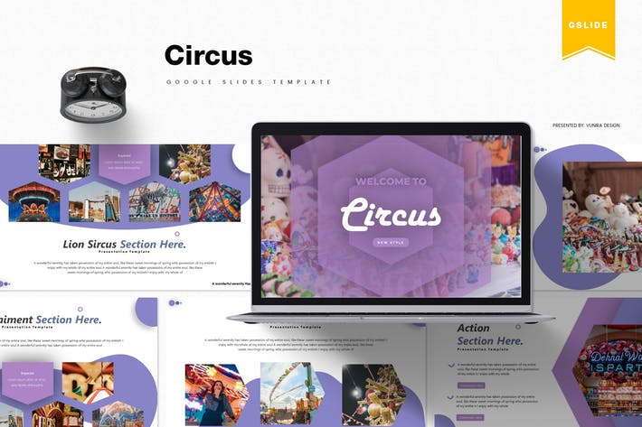 Thumbnail for Цирк | Шаблон слайдов Google