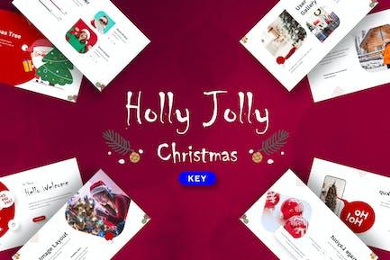 Holly Jolly Christmas - Keynote Template