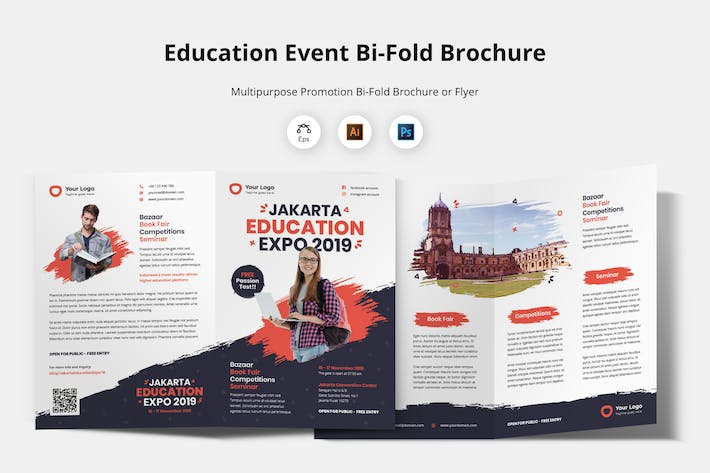 Thumbnail for Bifold Brochure Template - Education Flyer