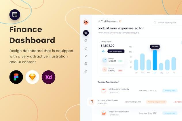 Finance Dashboard - Sqtemp