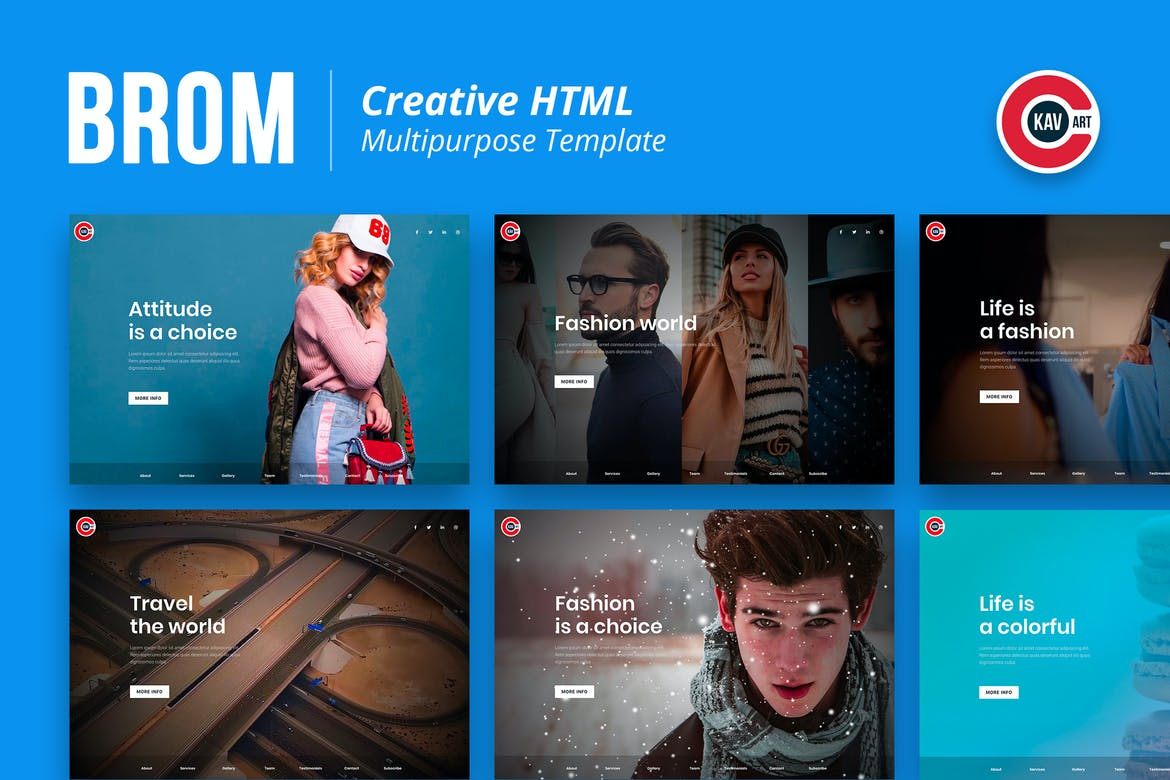 Brom - HTML Creative Page