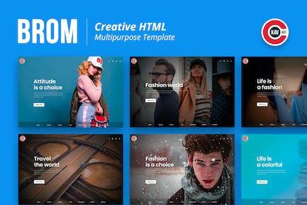 Brom - HTML-Kreativseite