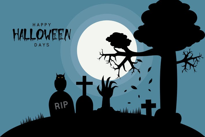 Thumbnail for Happy Halloween - Illustration Background