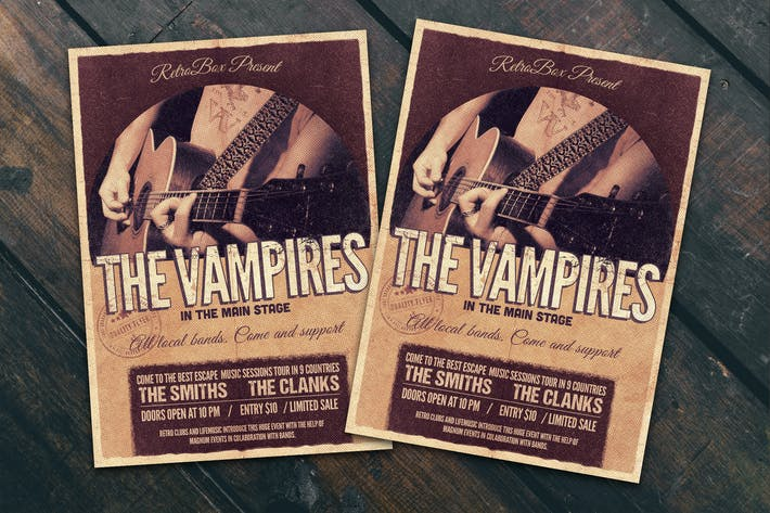 Cover Image For Vampires Music Flyer Poster