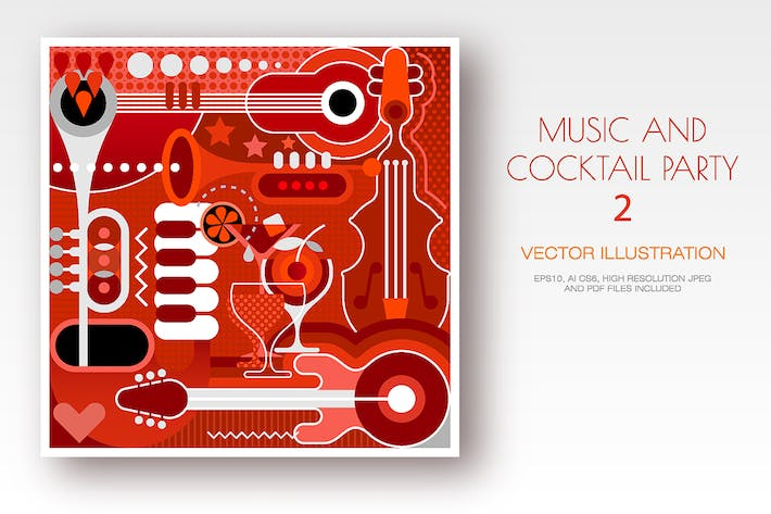 Cover Image For Concert and Cocktail Party vector design