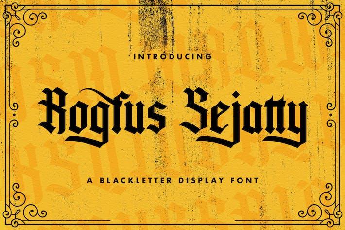 Rogfus Sejatty - Police des lettres noires