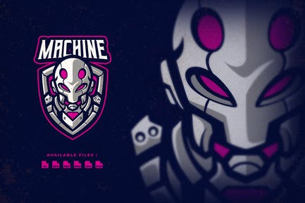 Machine Robot Esport Logo