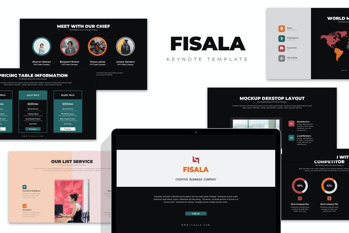 Thumbnail for Fisala : Clean Digital Age Corporate Keynote