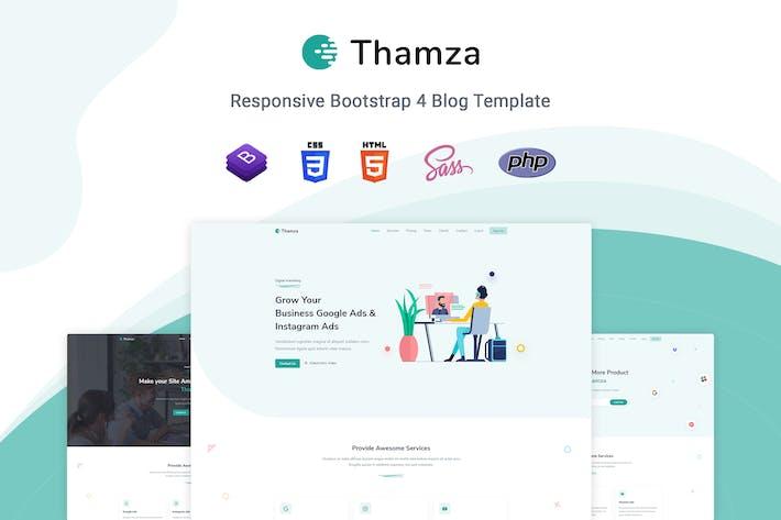 Thamza - Responsive Landing Page Template