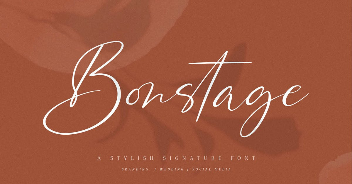 Download Bonstage - Stylish Signature Font by axelartstudio