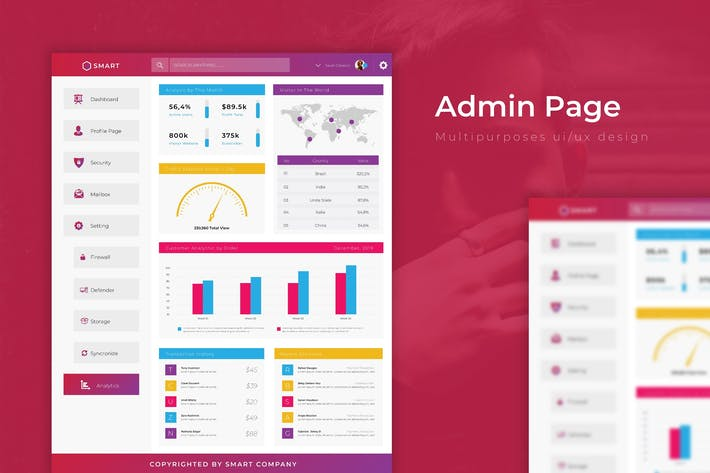 Thumbnail for Smart Dashboard | Admin Template