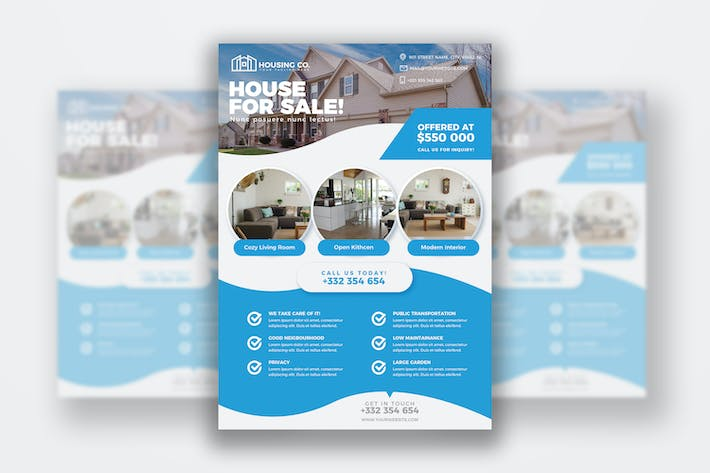 Thumbnail for Real Estate Flyer Print Template