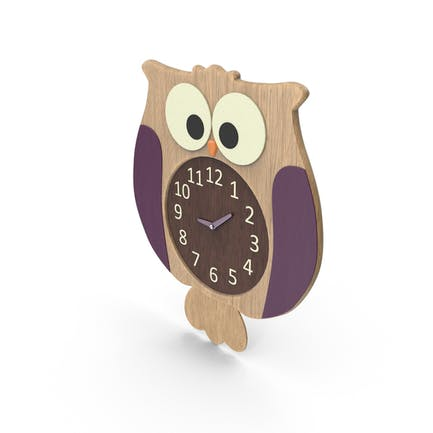 Reloj de búho para habitación infantil