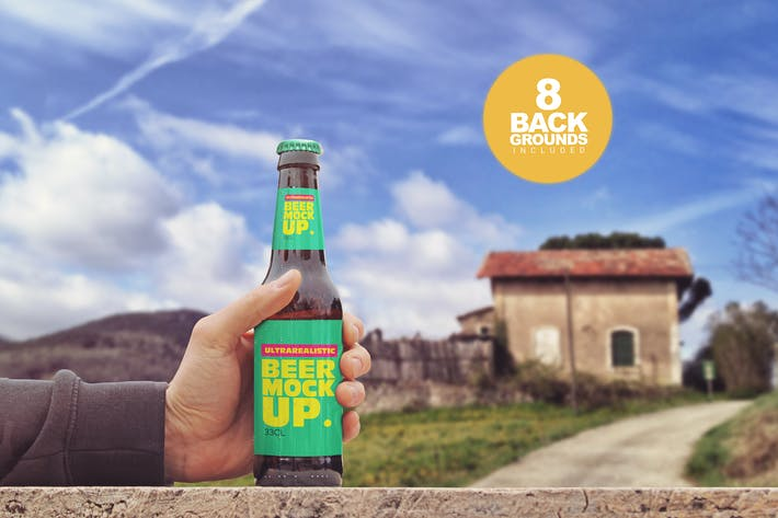 Thumbnail for Rustic Beer Mockup