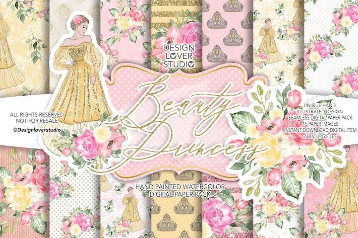 Thumbnail for Beauty Princess digital paper pack