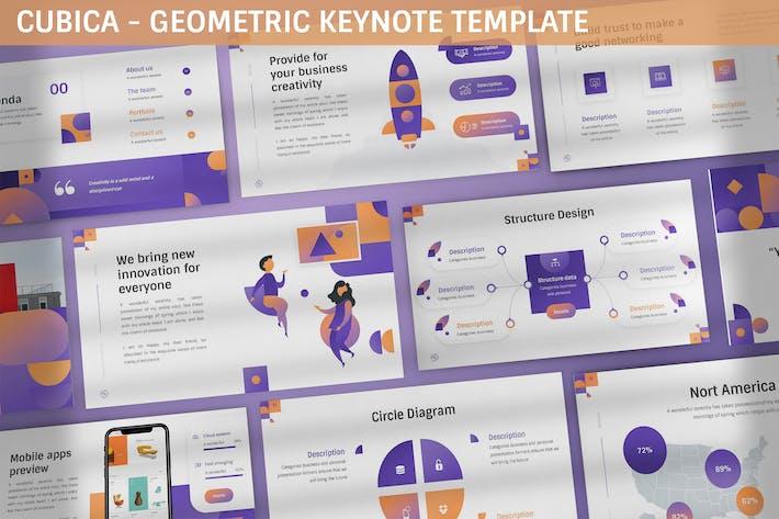 Cubica - Geometric Keynote Template