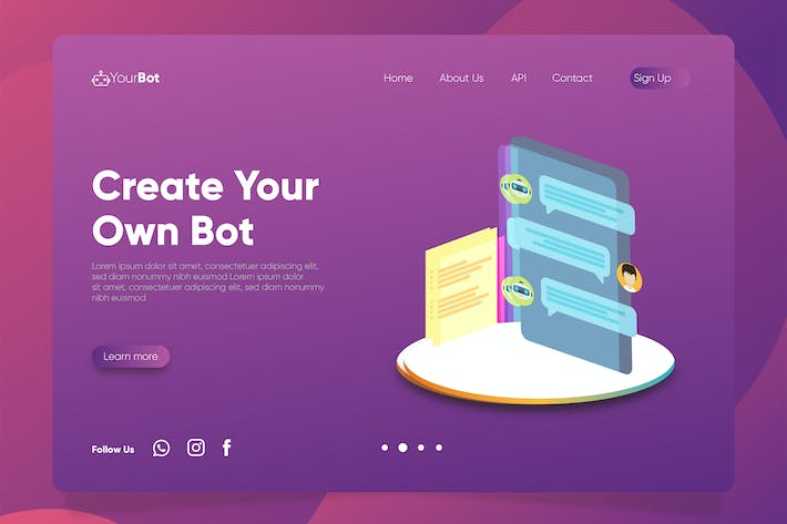 Thumbnail for ChatBot - Banner & Landing Page