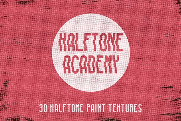 Halftone Academy - 30 Halftone Paint Textures - product preview 0