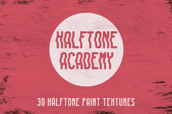 Thumbnail for Halftone Academy - 30 Halftone Paint Textures