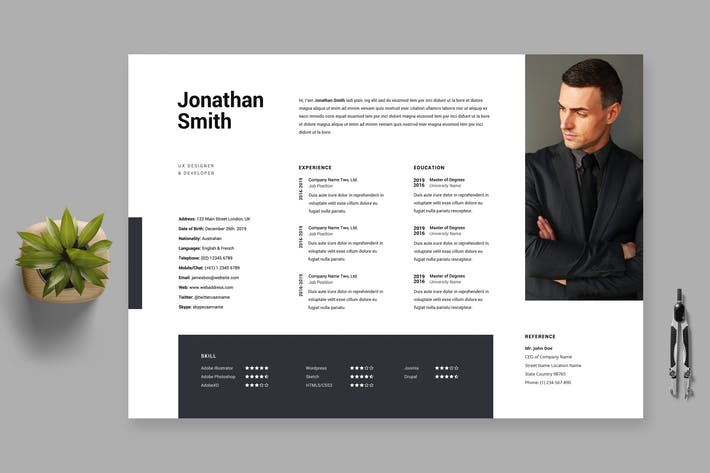 Thumbnail for Clean Minimal Resume / Cv Template 30