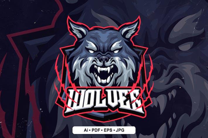 wolf 1 Mascot Logo template