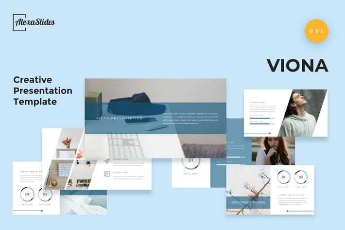 Thumbnail for Viona - Creative Google Slides Template