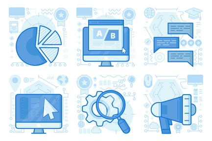 Search Settings UI UX Illustrations