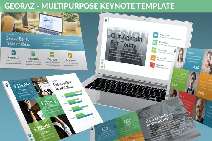 Thumbnail for Georaz - Multipurpose Keynote Template