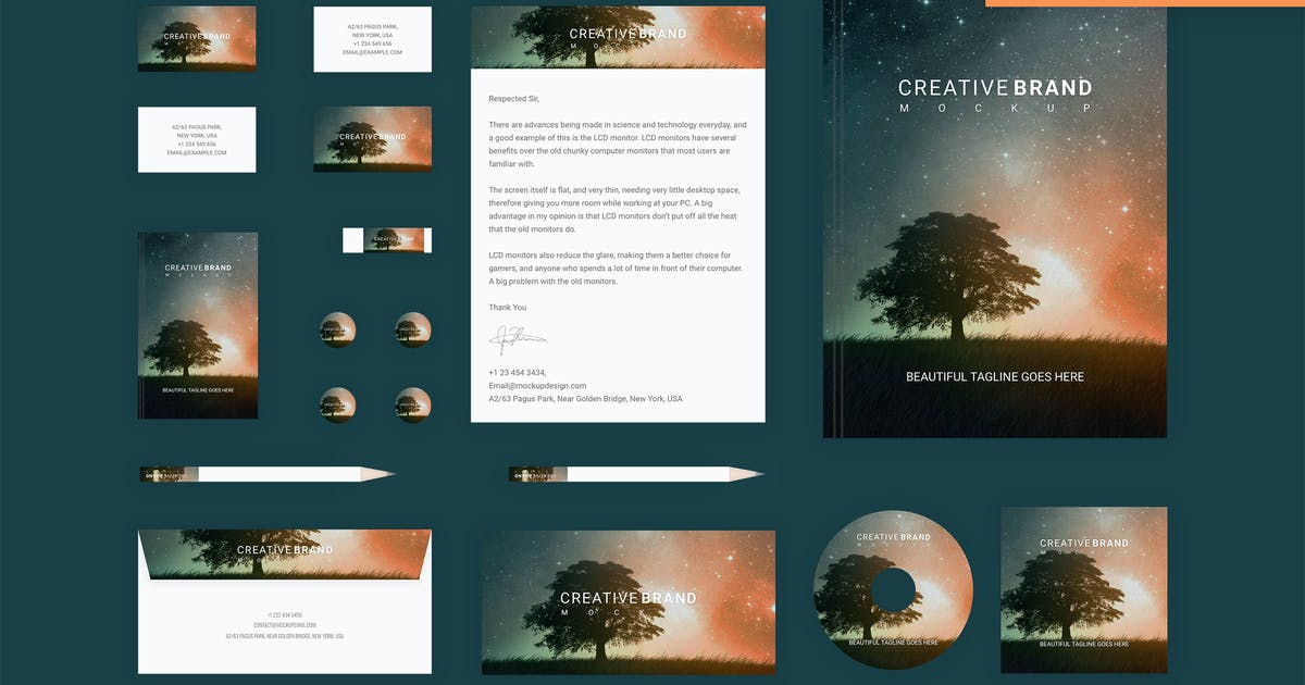 Download Branding identity mock up - Starry Night by themepassion
