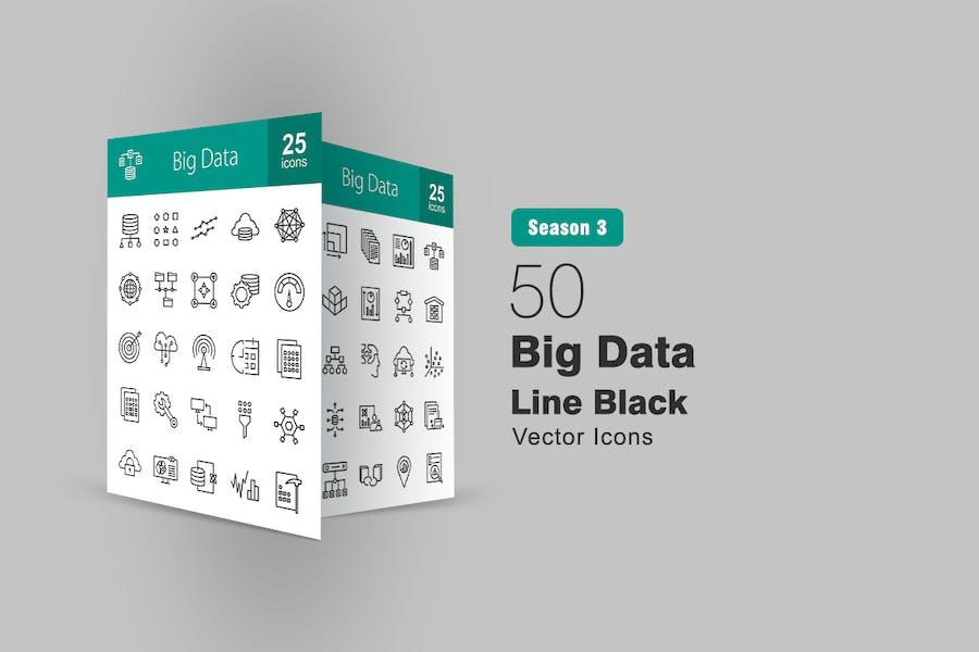 50 Icons für große Datenleitungen