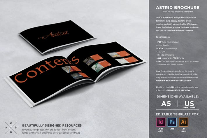 Thumbnail for Astrid Brochure Template