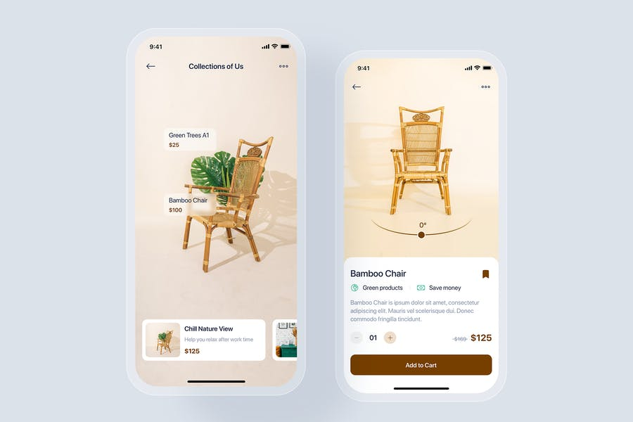 Furniture mobile app concept
