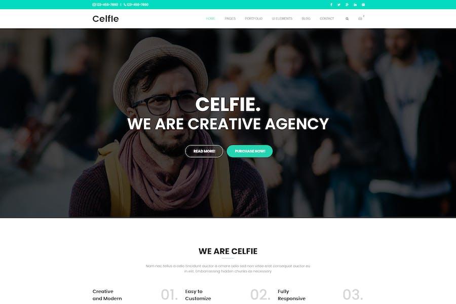 Celfie - Многоцелевой шаблон HTML5 Bootstrap