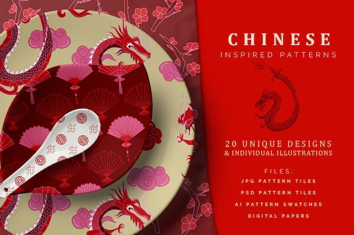 Handgezeichnete chinesische Muster