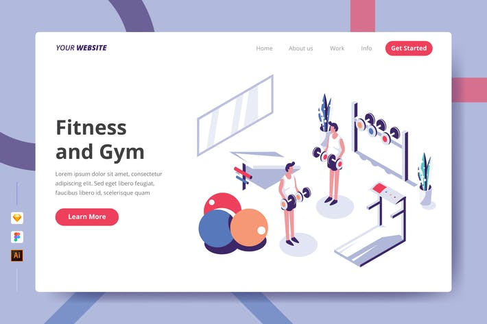 Thumbnail for Fitness and Gym - Landing Page