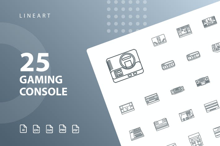 Thumbnail for Gaming Console Lineart