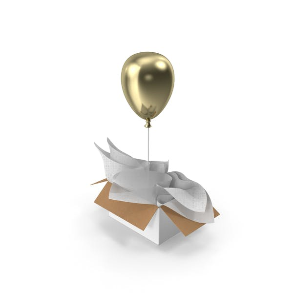 Gold Balloon Gift Box