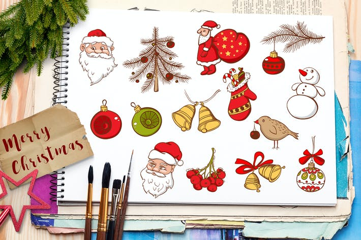 Thumbnail for Set of Christmas Doodles