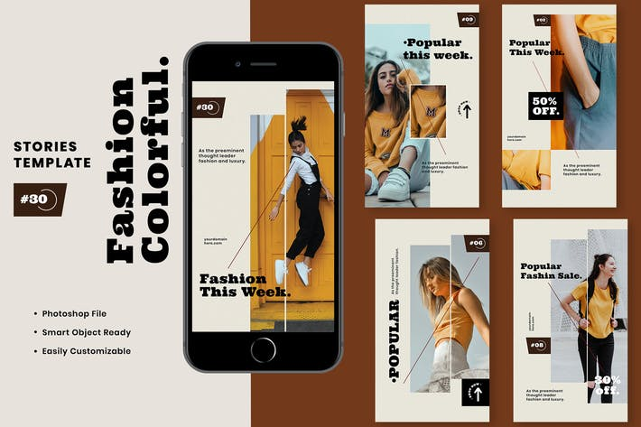 Thumbnail for Fashion Colorful Instagram Stories Template
