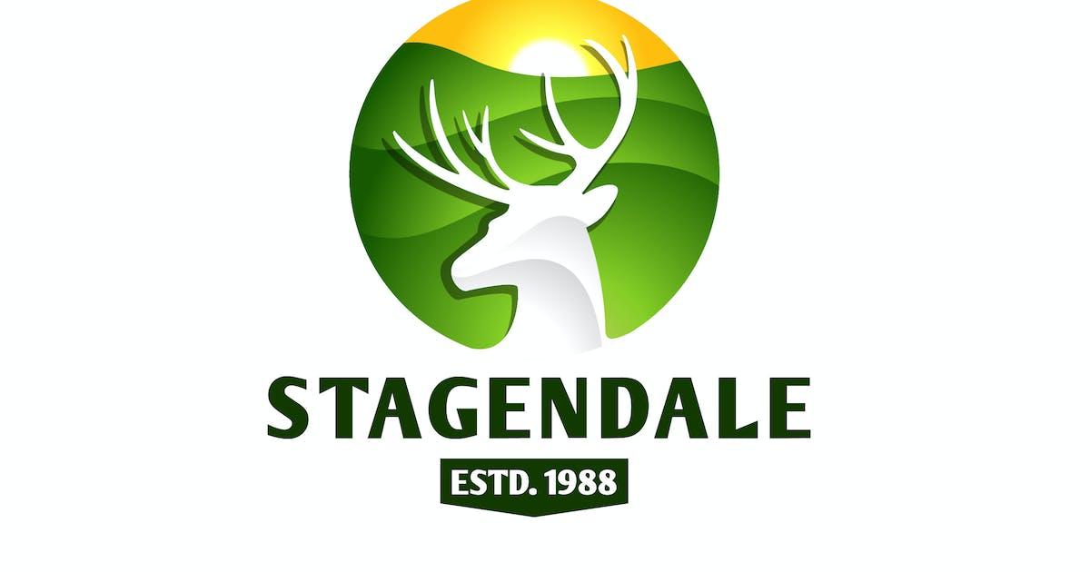 Download Elegant Negative Space Stag Logo by Suhandi