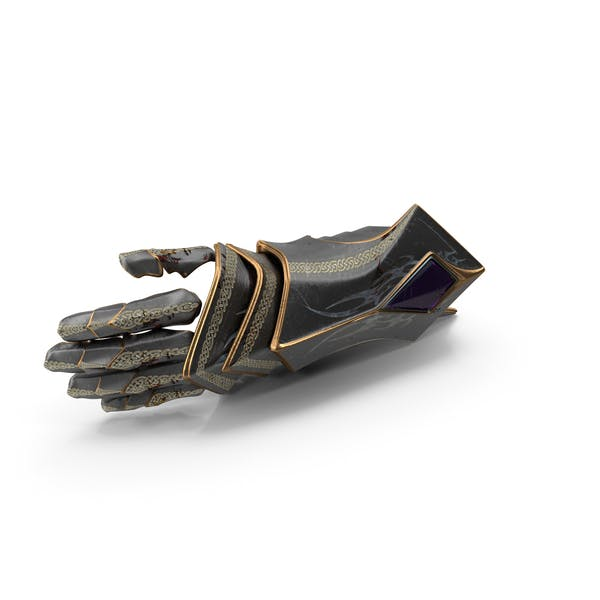 Battle Worn Fantasy Knight Hand Armor