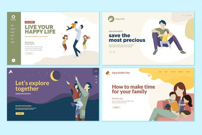 Thumbnail for Set von Design-Vorlagen für medizinische Webseiten